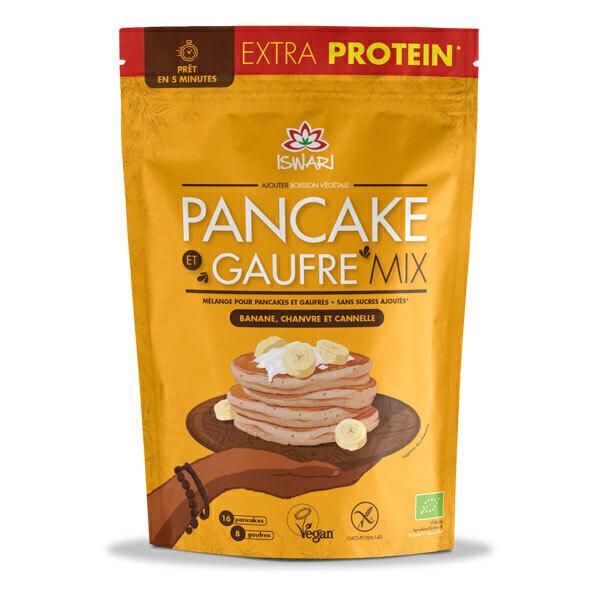 Iswari - Mélange instantané pour pancakes et gaufres protéinés 400g