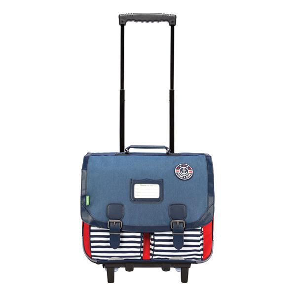 Tann's - Trolley 41 cm Denim Maxime bleu / rouge