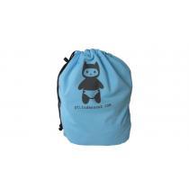 P'tits Dessous - Sac à couches lavables imperméable P'tits Dessous 35x45 cm -Bleu