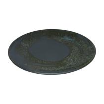 Esprit Cuistot - Assiette plate en céramique Chlorophylle gris (par 4)