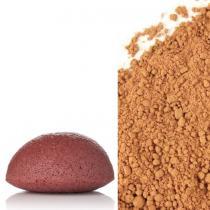 Abricot et Bergamote - Eponge Konjac 100% Naturelle Enrichie à l'Argile Rouge