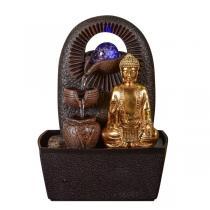 Zen' Light - Fontaine d'Intérieur Bouddha Bhava avec Eclairage Led