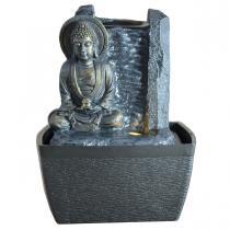 Zen' Light - Fontaine d'Interieur Deco Bouddha Serenite avec Eclairage Led