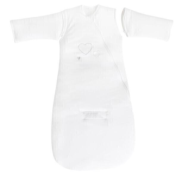 P'tit Basile - Gigoteuse Hiver manches Jersey Bio - 0-6 mois - 70 cm Blanc