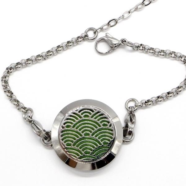 Zen' Arôme - Bracelet d'Aromathérapie Vague Zen