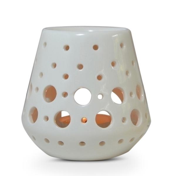 Zen' Arôme - Brûle Parfum en Céramique Loob Blanc