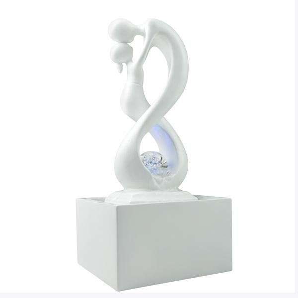 Zen' Light - Fontaine d'Intérieur Moderne avec Eclairage Led Amor Blanc