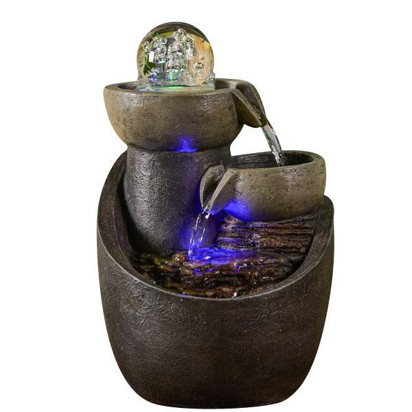 Zen' Light - Fontaine d'Intérieur Malla avec Eclairage Led