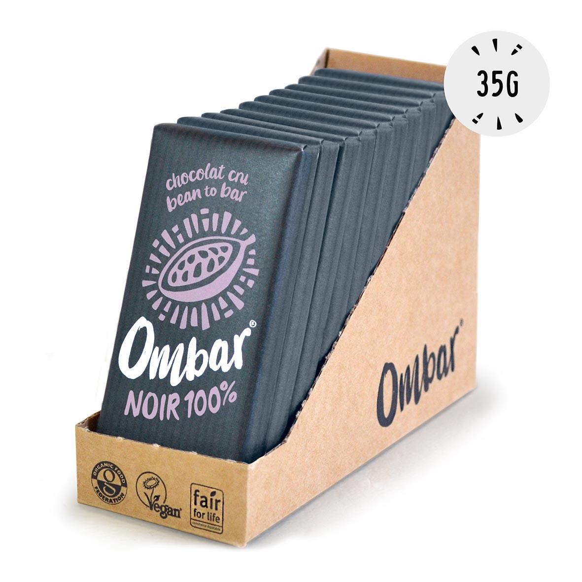 Ombar - Lot de 9+1 Chocolats Crus 100% Cacao 35g Bio