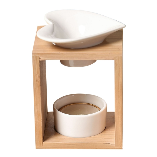 Zen' Arôme - Brûle Parfum en Céramique et Bambou Naturéa Arum