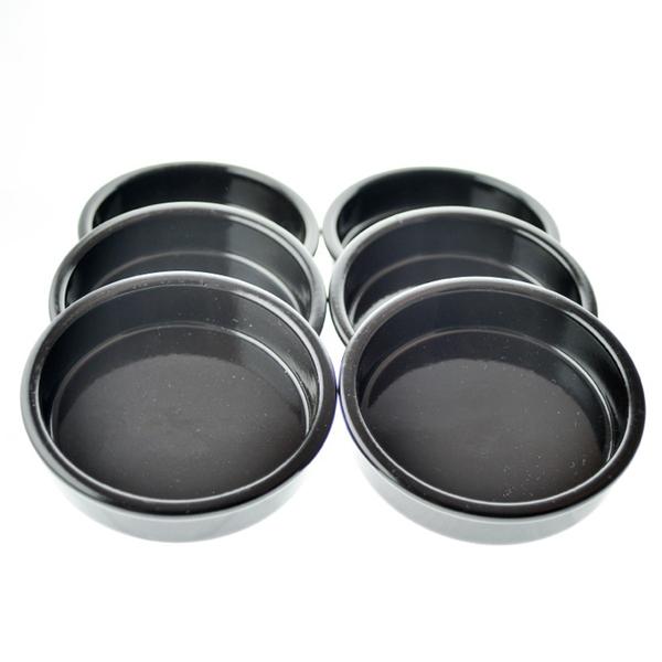 Esprit Cuistot - Set 6 cassolettes noire en céramique 12 cm