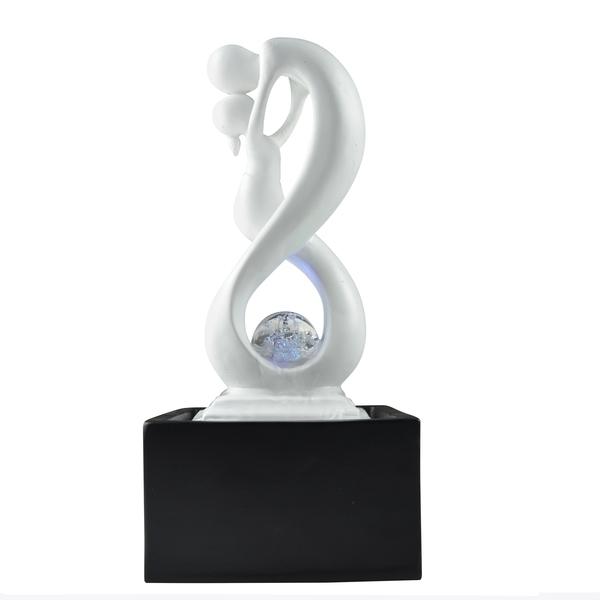 Zen' Light - Fontaine d'Intérieur Moderne Eclairage Led Amor Noir et Blanc
