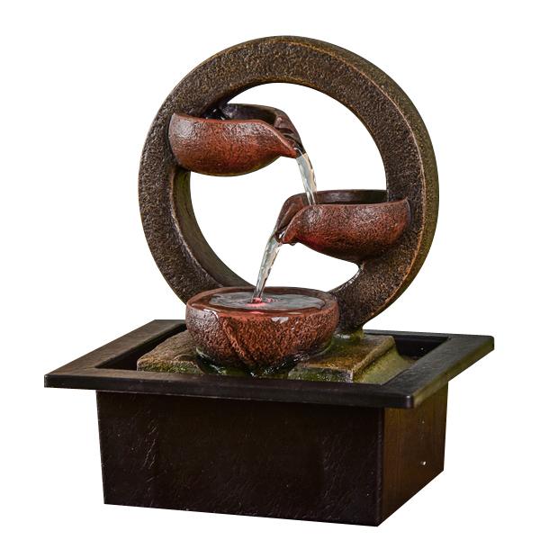 Zen' Light - Fontaine d'Intérieur Cascade Terai avec Eclairage Led
