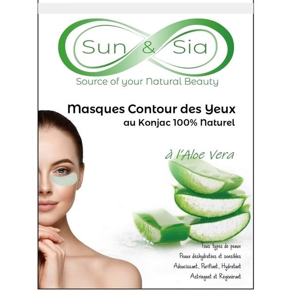 Zen' Arôme - Masque pour le Contour des Yeux au Konjac enrichi à l'Aloe Vera