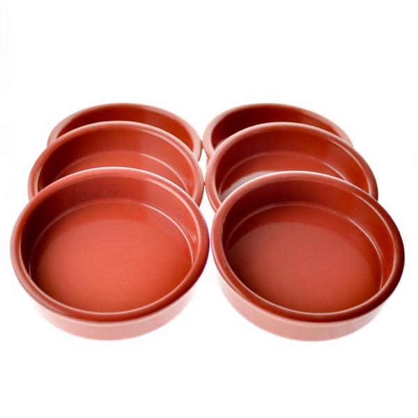 Esprit Cuistot - Set 6 cassolettes 12 cm en céramique cerise