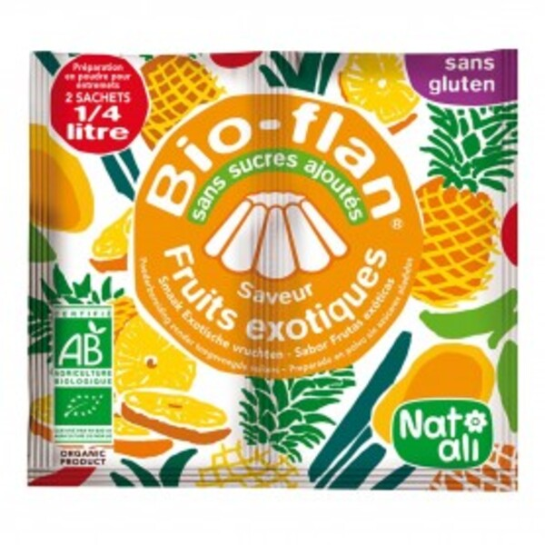 Natali - Bioflan fruits exotiques sans sucres ajoutés 8g bio