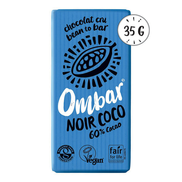 Ombar - Chocolat Cru Noir-Coco 35g Bio