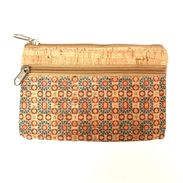 "OAK Forest - Pochette - Trousse en liège artisanal ""Fleurs brunes"""