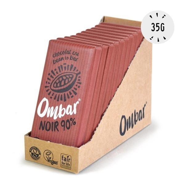 Ombar - Lot de 9+1 Chocolats Crus 90% Cacao 35g Bio