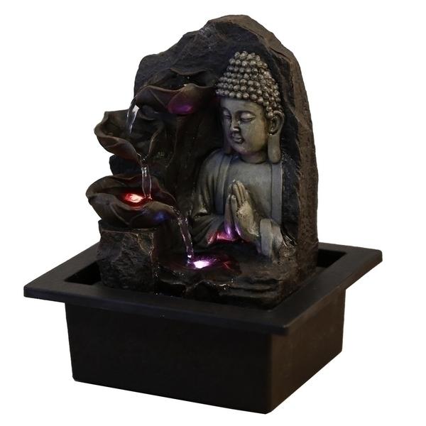 Zen' Light - Fontaine d'Intérieur Déco Spiritualité avec Eclairage Led