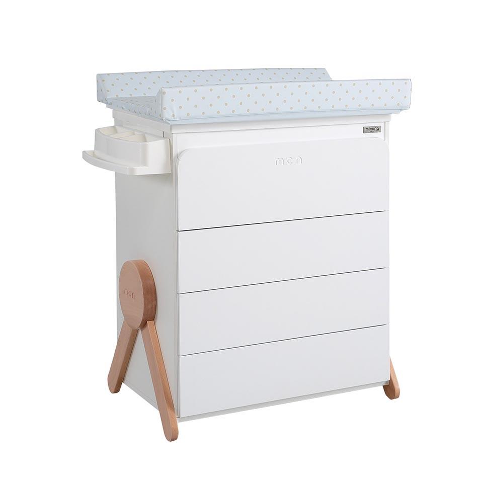 Micuna - Meuble à langer baignoire Swing 100.9x76.3x49 cm blanc