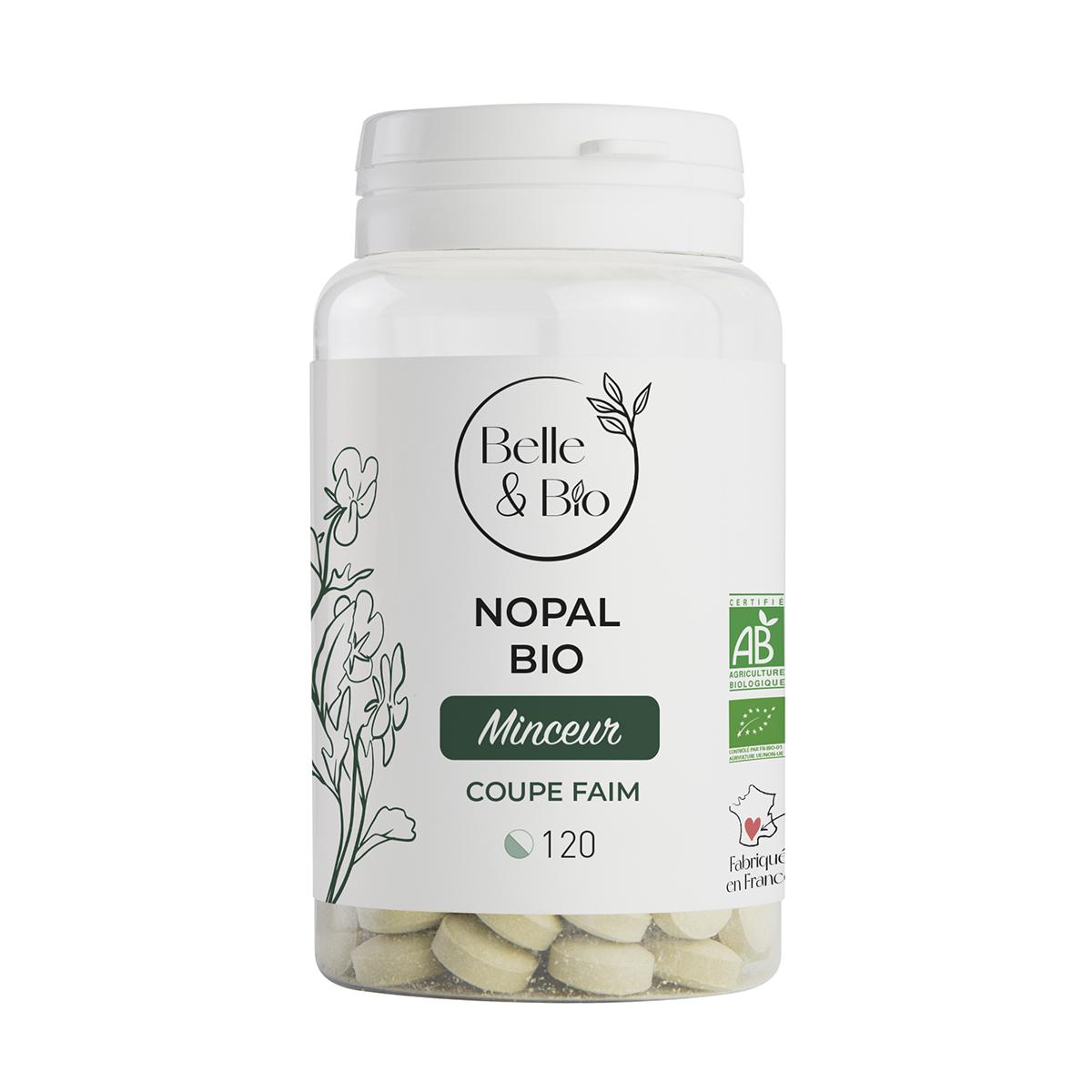 Belle & Bio - Nopal Bio - Minceur - 120 Comprimés - Certifié AB par Ecocert
