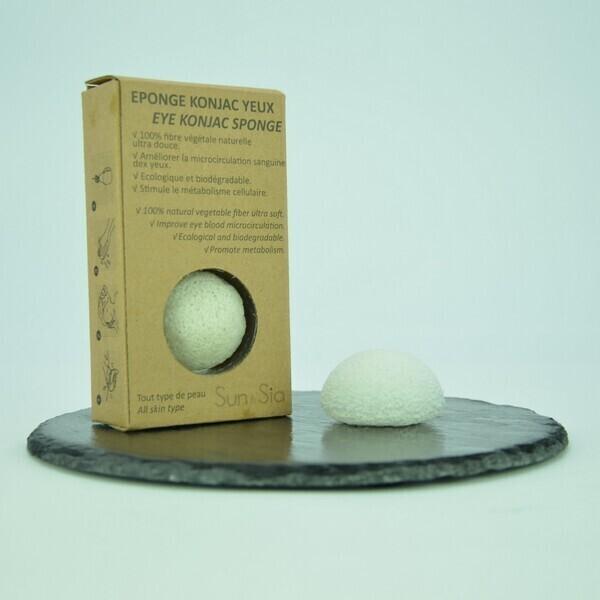Zen' Arôme - Eponge Konjac Spéciale Yeux 100% Naturelle Nature