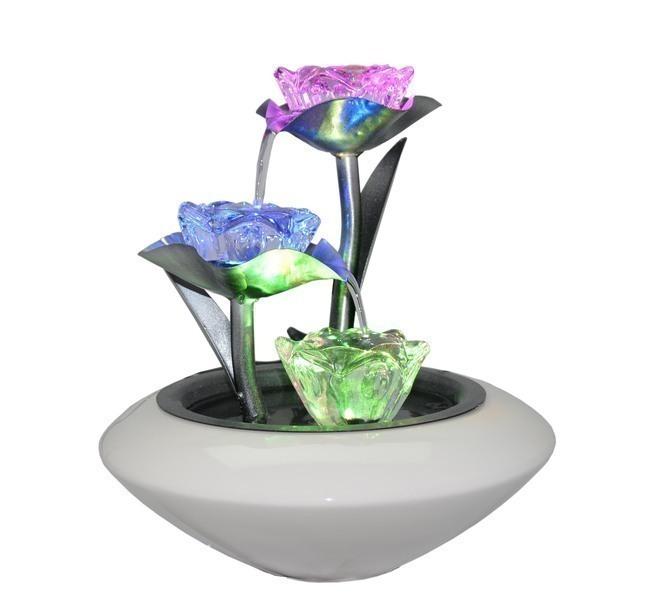 Zen' Light - Fontaine d'Intérieur Cristal Line Florea en Verre et Céramique