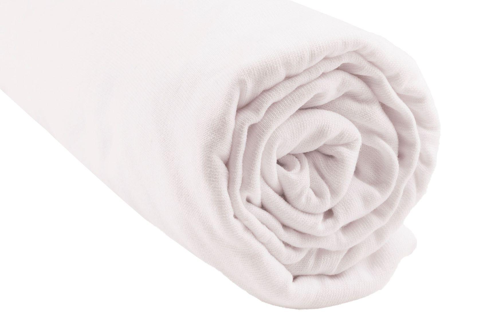 Easy Dort - Drap housse 100% Coton Bio pour lit 140x190 / 140x200 cm - Blanc