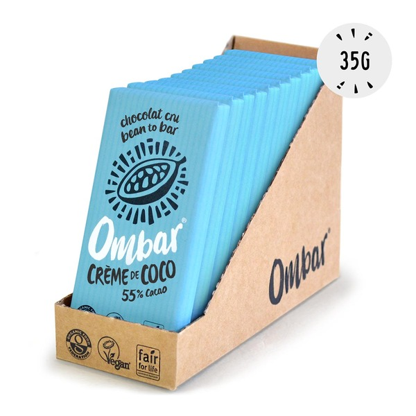 Ombar - Lot de 9+1Chocolats Crus à la Crème de Coco 35g Bio