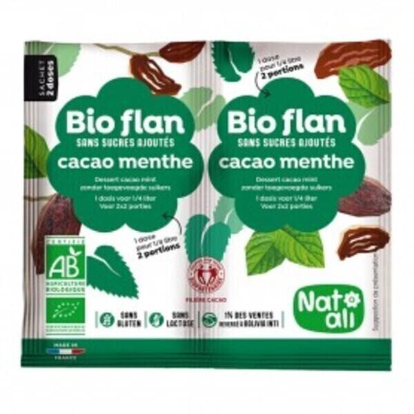 Natali - Bioflan chocolat-menthe sans sucres ajoutés 10g bio