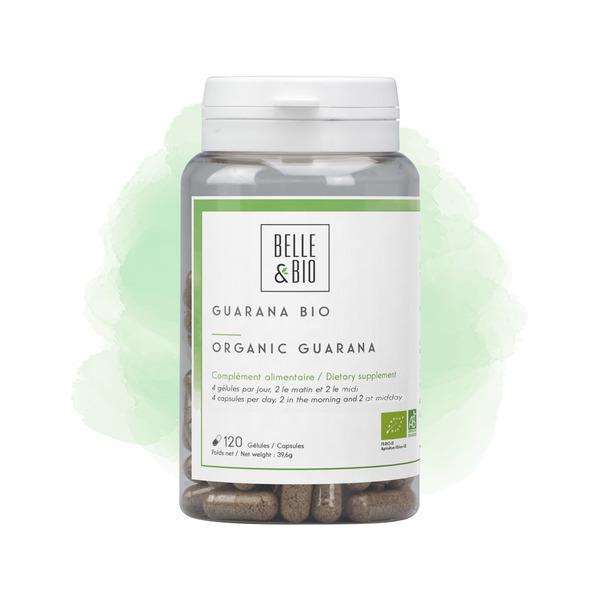 Belle & Bio - Guarana Bio - Minceur - 120 Gelules - Certifie AB par Ecocert