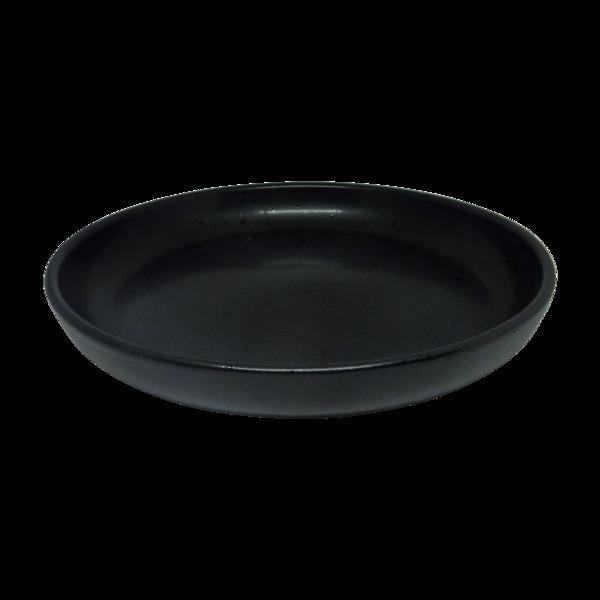 Esprit Cuistot - Assiette Moon noir en céramique 27 cm (par 4)