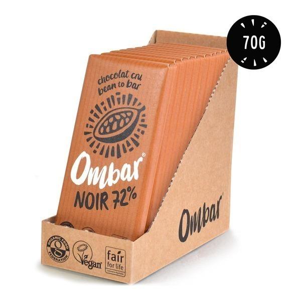 Ombar - Lot de 9+1 Chocolats Crus 72% Cacao 70g Bio