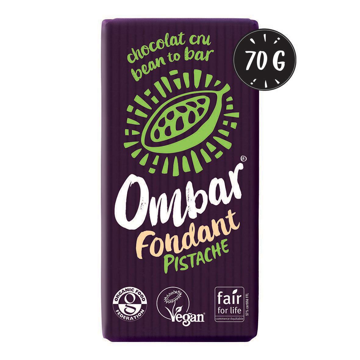 Ombar - Chocolat Cru Fondant Pistache 70g Bio