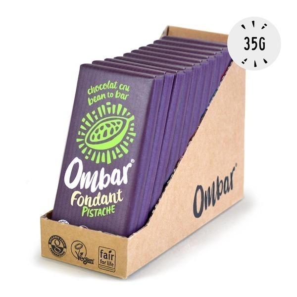 Ombar - Lot de 9+1 Fondants Pistache 35g Bio