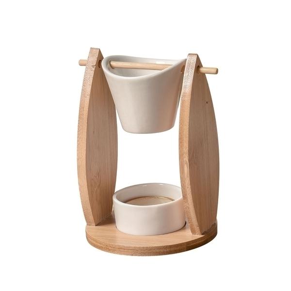 Zen' Arôme - Brûle Parfum en Céramique et Bambou Naturéa Voile