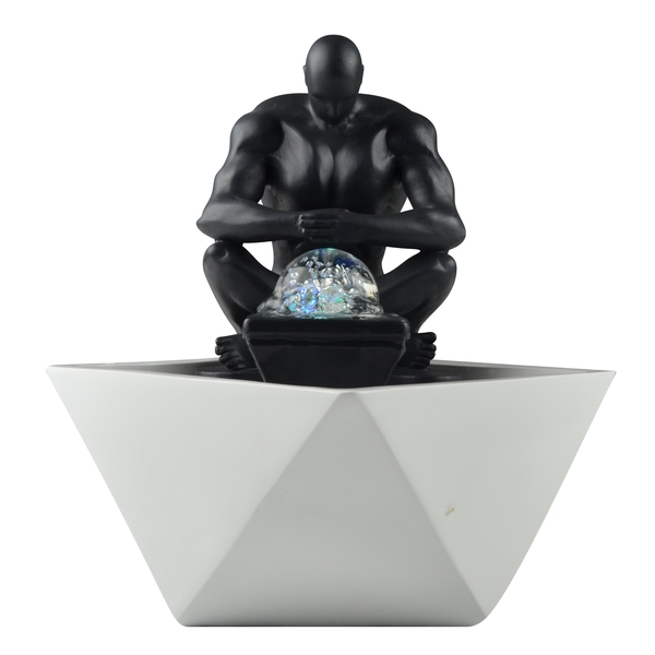 Zen' Light - Fontaine Moderne d'Intérieur avec Eclairage Led Mister