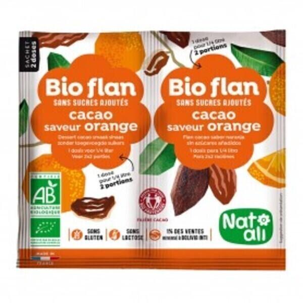 Natali - Bioflan chocolat-orange sans sucres ajoutés 10g bio