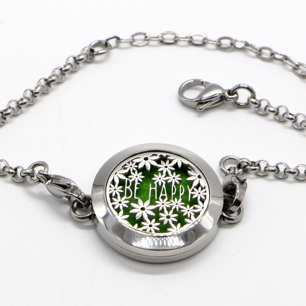 Zen' Arôme - Bracelet d'Aromathérapie Be Happy