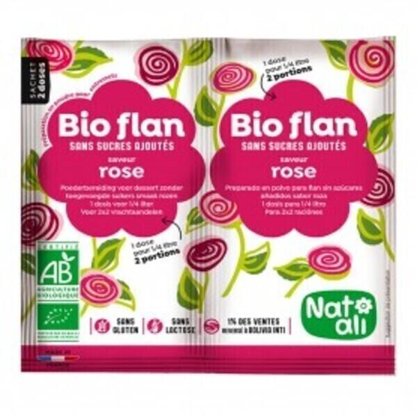 Natali - Bioflan rose sans sucres ajoutés 8g bio