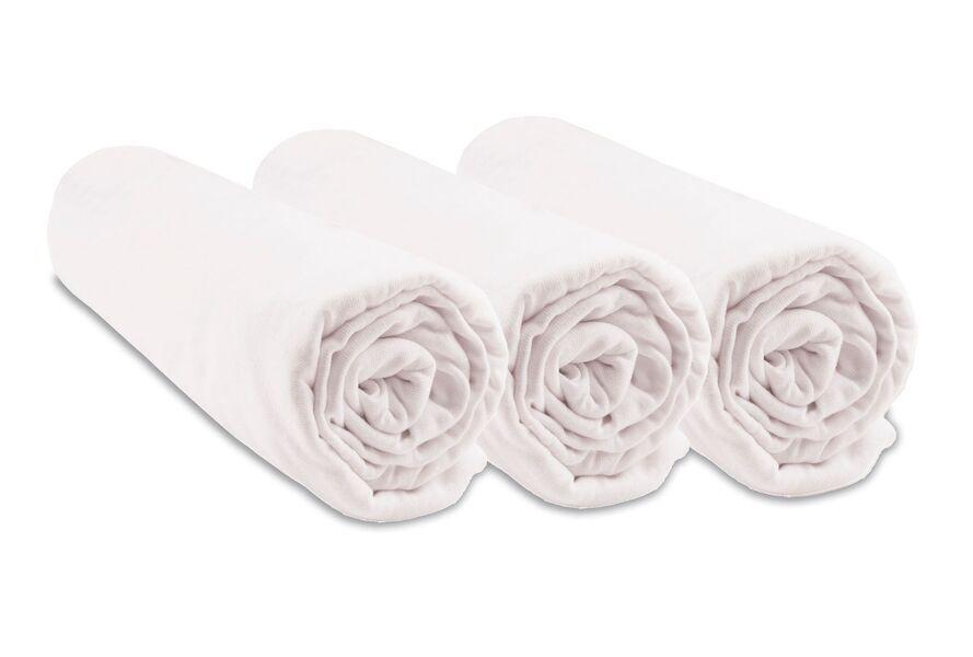 Easy Dort - Lot de 3 Draps housse Jersey Coton pour couffin 32x72 cm - Blanc