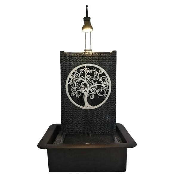 Zen' Light - Fontaine d'Intérieur Feng Shui Arbre de Vie avec Eclairage Led