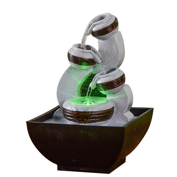 Zen' Light - Fontaine d'Intérieur Nature Kara avec Eclairage Led