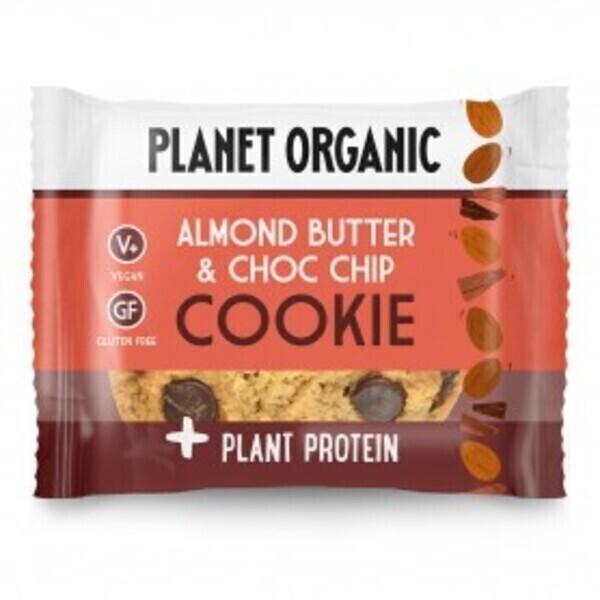 Planet Organic - Cookie Protéiné Amandes-Chocolat Bio 50g