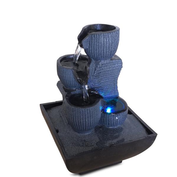 Zen' Light - Fontaine d'Intérieur Déco Originale Kini avec Eclairage Led