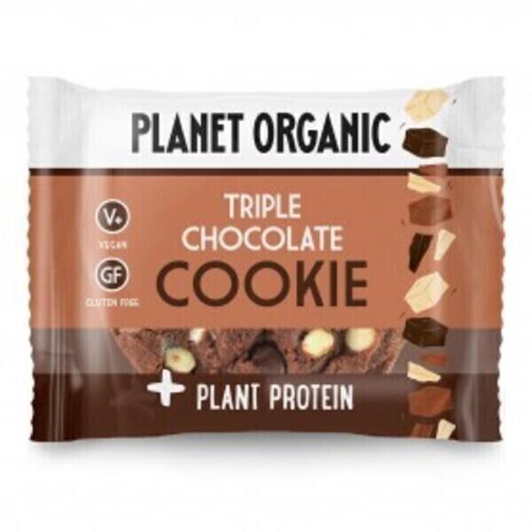 Planet Organic - Cookie Protéiné 3 Chocolats Bio 50g