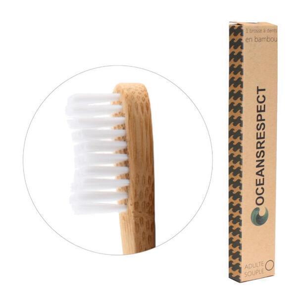 Oceansrespect - Brosse à dents en bambou - Adulte - Souple