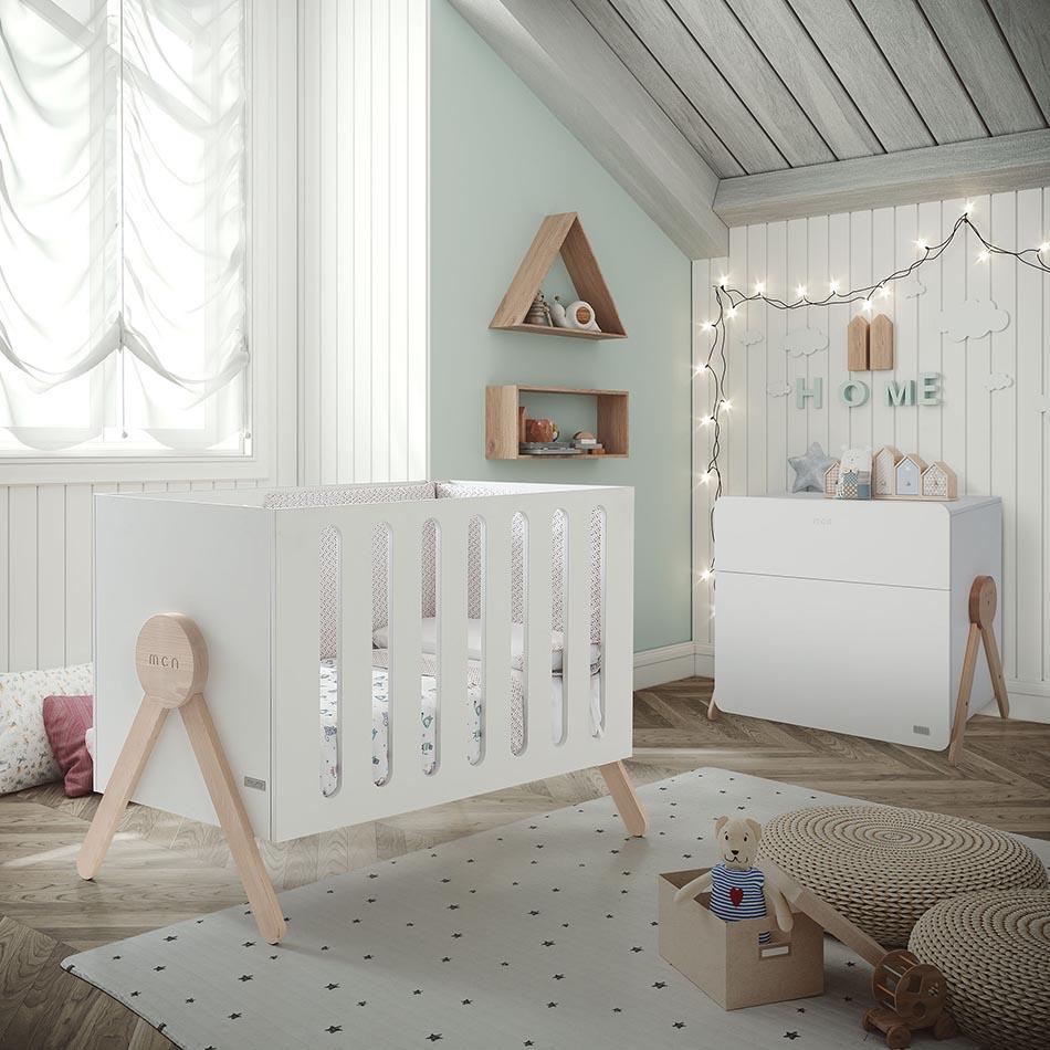 Micuna - Berceau Swing blanc avec relax system 120 x 60 cm