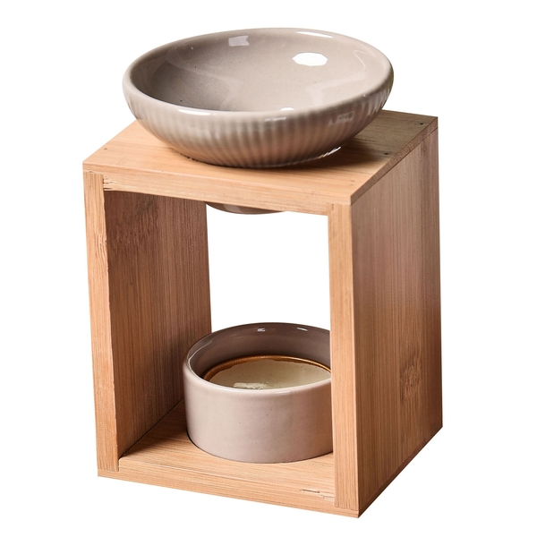 Zen' Arôme - Brûle Parfum en Céramique et Bambou Naturéa Yona